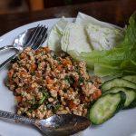 Larb Gai - a healthy dish at Root Healing Iboga Retreats