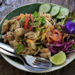 Thailand Style Mushroom Salad at Root Healing